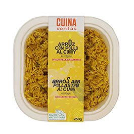 Arroz con pollo al curry 220g ECO