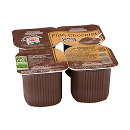 Flan chocolate Grandeur 4x100g ECO