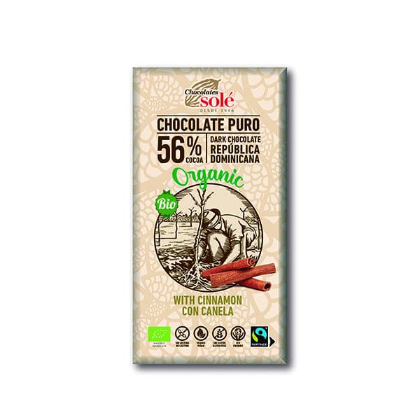 Choco negro c/canela 100g ECO