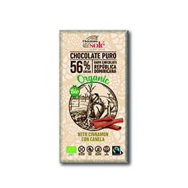 Choco negro c/canela 100g Sole ECO