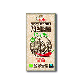 Choco negro c/chili 100g Sole ECO