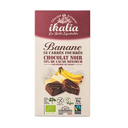 Chocolate Negro relleno plátano ECO