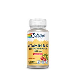 B12+Acido fólico Solaray 90 cpr subl