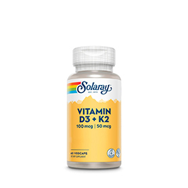Vitamina D3-K2 (mk7) Solaray 60caps ECO