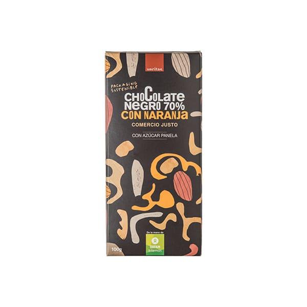 Chocolate 70% naranja 100g ECO