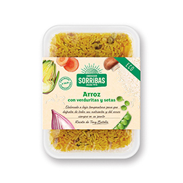 Arroz c/verduras-setas 200g ECO