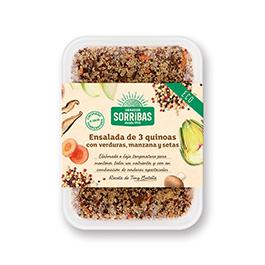 Ensalada 3 quinoas/verd 200g ECO