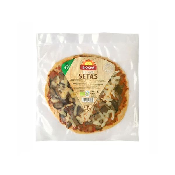 Pizza vegetal de setas 300g ECO