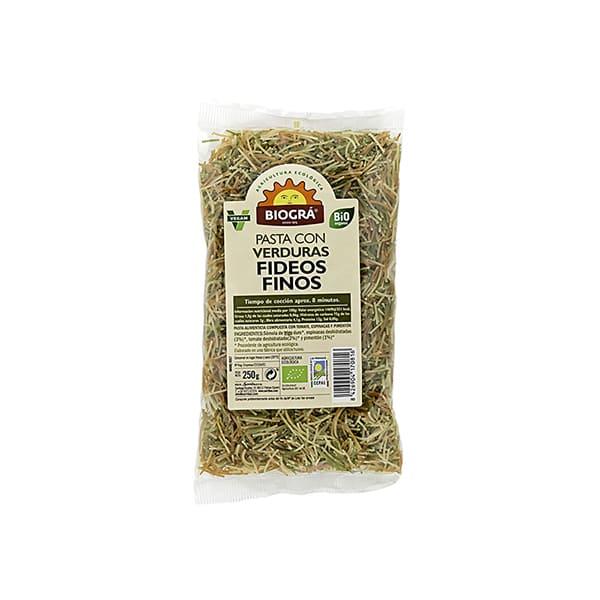 Fideos finos verduras 250g ECO