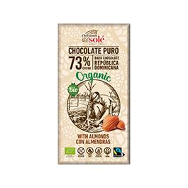 Chocolate negr 73% almendr Sole 150g ECO