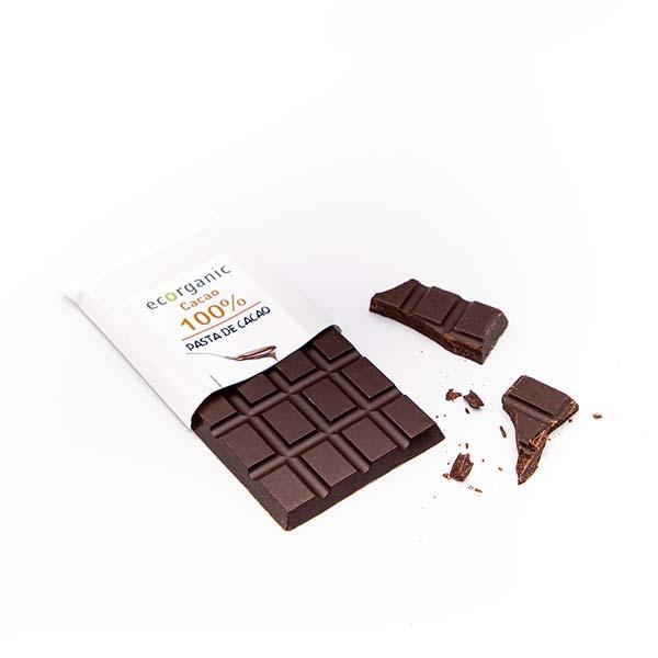 Cacao 100% (pasta cacao)Tableta 100g ECO