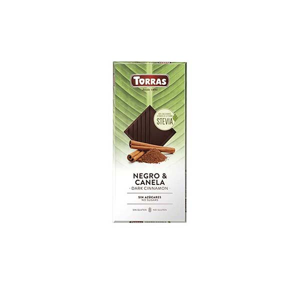 Chocolate stevia negro canela 125g ECO