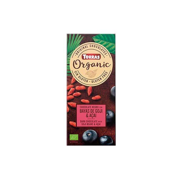 Choco negro c/bayas goji&acai 100g ECO