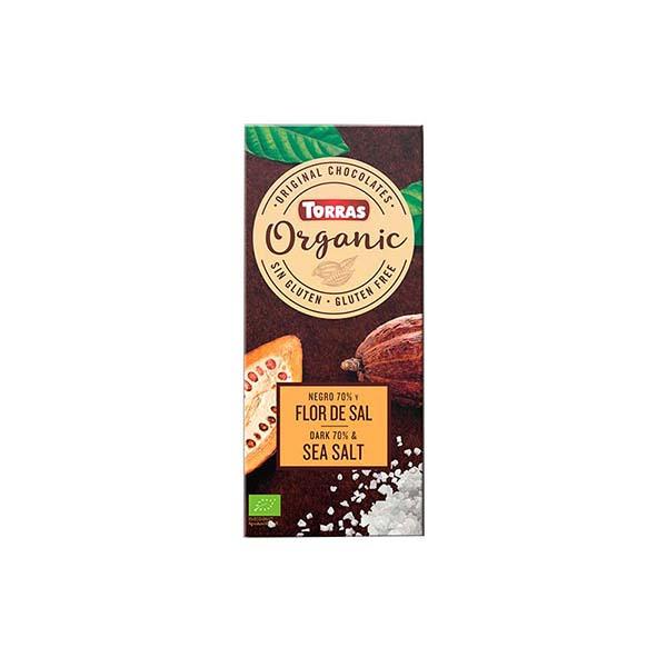 Chocolate negro 70% c/flor sal 100g ECO