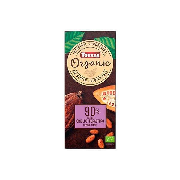 Chocolate negro 90% cacao criol 100g ECO