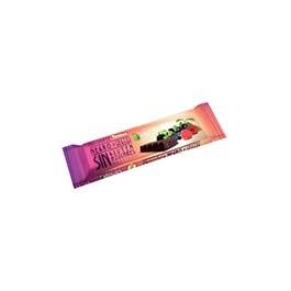 Chocolatina stevia negro/frutas bosq 35g ECO