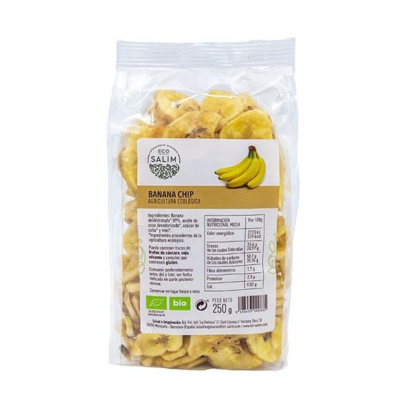 Banana chips 250g ECO