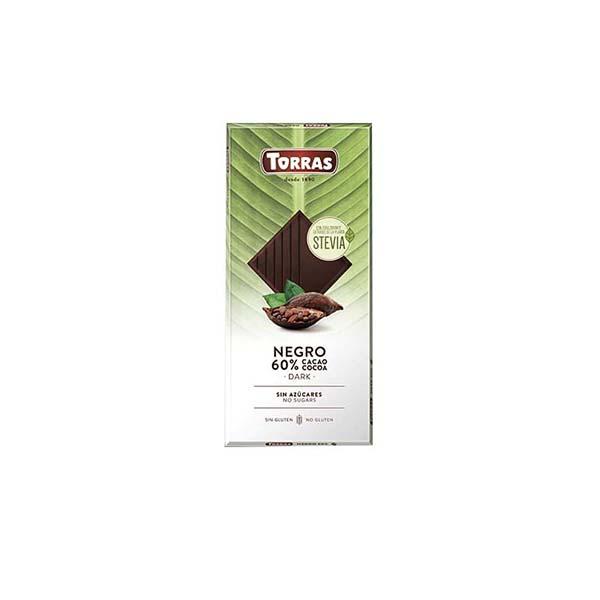 chocolate stevia negro 60% cacao 100g ECO