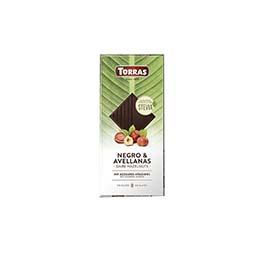 Chocolate stevia negro avellana 125g ECO