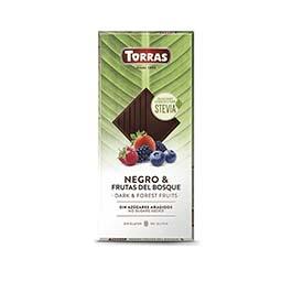 Chocolate stevia negro f.bosque 125g ECO
