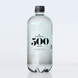Agua Mineral 500 Gotas 1L