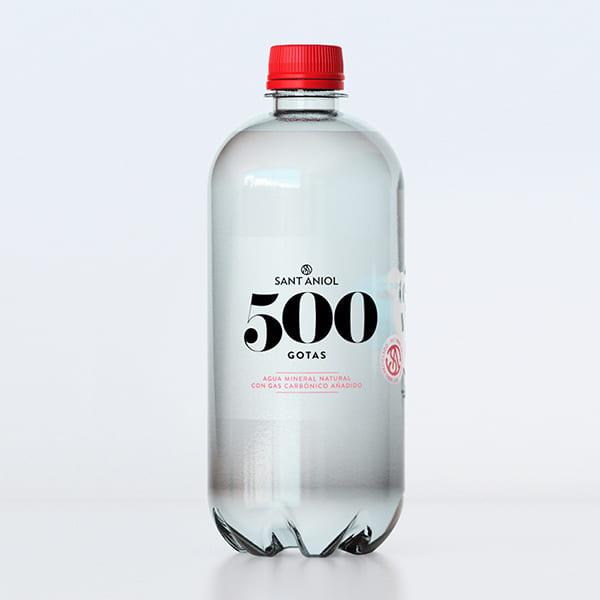 Agua Mineral Gas 500 Gotas 1L