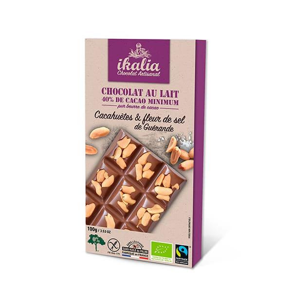 Choco leche cacahuete 100g ECO