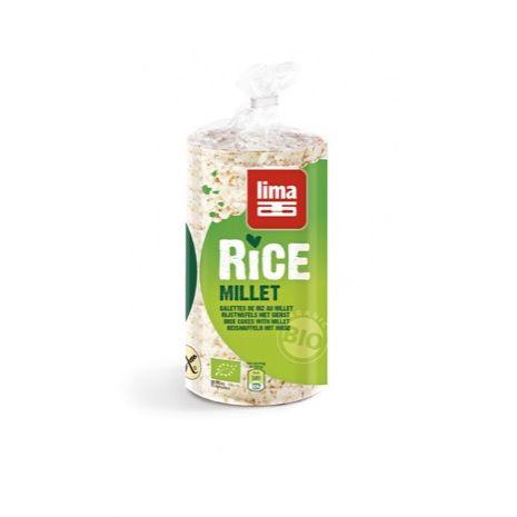 Tortitas de arroz y mijo 100g